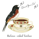 Rufous-sided Towhee Flour Sack Towels