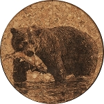 Bear Catching Fish Coaster
