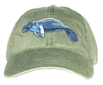 Manatee Embroidered Cap
