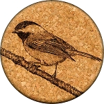 Black-capped Chickadee Coaster