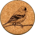 Goldfinch Coaster