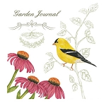 Goldfinch Garden Journal Potholders or Flour Sack Towels ~ Click for Choices