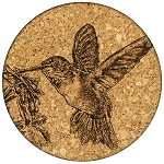 Feeding Hummingbird Coaster