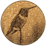 Perching Hummingbird Coaster