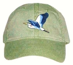 Great Blue Heron Embroidered Cap