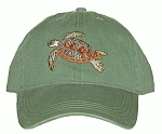 Green Sea Turtle Embroidered Cap