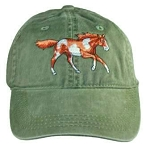 Wild Mustang Horse Embroidered  Cap