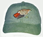 Red-tailed Hawk Embroidered Cap