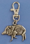 Javelina Charm with Clip