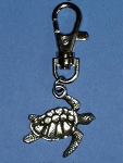 Pewter Sea Turtle Charm with Clip