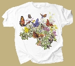 Butterfly Garden Two-sided T-shirt