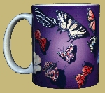 Butterfly Splash 11 OZ. Ceramic Coffee Mug