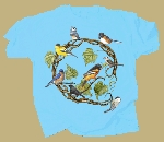 Songbird Wreath T shirt