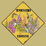 Western Hummingbird Crossing Sign