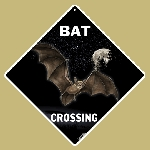 Bat Crossing Sign Glow in the Dark
