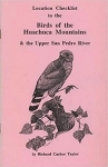 Location Checklist to the Birds of the Huachuca Mountains