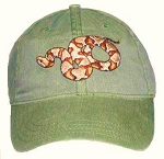 Copperhead Snake Embroidered Cap