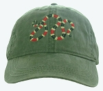 Coral Snake Embroidered Cap