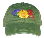 Desert Blooms Embroidered  Cap