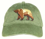 Grizzly Bear Embroidered Cap