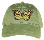 Monarch Butterfly Embroidered Cap