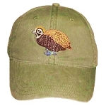 Montezuma Quail Embroidered Cap
