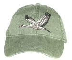 Sandhill Crane Embroidered Cap