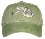 Diamondback Rattlesnake Embroidered Cap