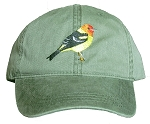 Western Tanager Embroidered Cap