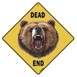 Bear Dead End Sign