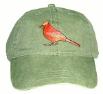 Cardinal Embroidered Cotton Cap