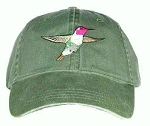 Anna's Hummingbird Embroidered Cap