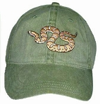 Banded Rock Rattlesnake Embroidered Cap
