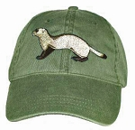 Black Footed Ferret Embroidered Cap
