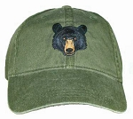 Black Bear Embroidered Cap