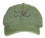 Black Widow Spider Embroidered Cap