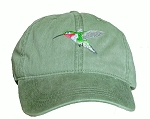 Broad-tailed Hummingbird Embroidered Cap