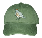 Gambel's Quail Embroidered Cap