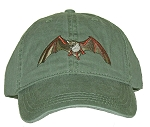 Mexican Free-tailed Bat Embroidered Cap