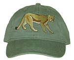 Mountain Lion Embroidered Cap ~ Cougar, Panther, Puma