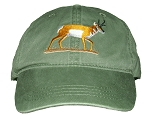 Pronghorn Antelope Embroidered Cap