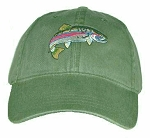 Rainbow Trout Embroidered Cap