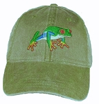 Red-eyed Tree Frog Embroidered Cap