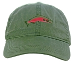 Coho Salmon Embroidered Cap