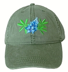 Texas Bluebonnet Embroidered  Cap