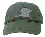 White Ibis Embroidered Cap