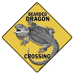 Bearded Dragon Crossing Sign
