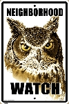 Owl Neighborhood Watch Sign