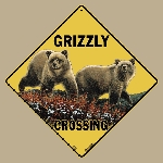 Grizzly Crossing Sign
