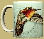 Rufous Hummingbird 11 OZ. Ceramic Coffee Mug